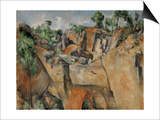 The Quarry at Bibemus, circa 1895 Art by Paul Cézanne