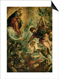 The Archangel Michael Fights Satan, (Revelation 12, 1-9) Prints by Jacopo Robusti Tintoretto