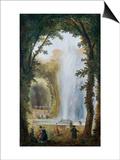 Le Jet D'Eau Du Bosquet Des Muses a Marly Print by Hubert Robert