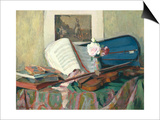 Still Life with Violin Art by Henri Ottmann