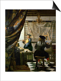 The Painter (Vermeer's Self-Portrait) and His Model as Klio Print by Jan Vermeer
