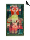 Queen of Hearts (Herzdame), 1922 Poster by Paul Klee