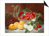 Still Life of Raspberries in a Glass Bowl Prints by Eloise Harriet Stannard