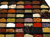 A Display of Spices Lends Color to a Section of Fancy Food Show, July 11, 2006, in New York City Prints by Seth Wenig