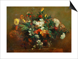 Flowers Posters by Eugene Delacroix