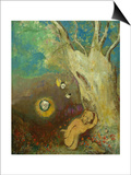 Caliban's Sleep (Shakespeare, the Tempest), 1895-1900 Prints by Odilon Redon