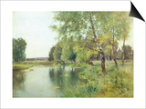 River Landscape in Summer Prints by Ernest Parton