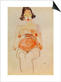Red Nude, Pregnant, 1910 Posters by Egon Schiele