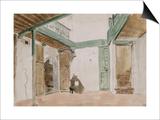 Une cour à Tanger ; 1832 Posters by Eugene Delacroix