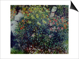 Women Amidst Flowers, 1875 Art by Claude Monet