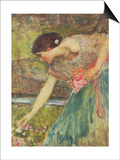 Gathering Roses Posters by John William Waterhouse