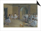 Ballet Studio at the Opera in Rue Le Peletier, 1872 Posters by Edgar Degas