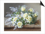 Still Life with Yellow Roses Posters by Raoul Victor Maurice Maucherat de Longpre