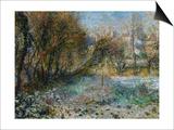Snowy Landscape Art by Pierre-Auguste Renoir