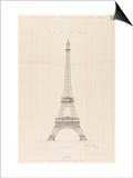Tour Eiffel : élévation générale Posters by Alexandre-Gustave Eiffel