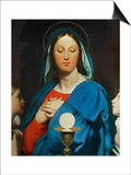 The Virgin with the Eucharist, 1866 Print by Jean-Auguste-Dominique Ingres