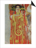 Medicine, Part of the Ceiling Fresco for the Vienna University, 1900/07 Posters by Gustav Klimt