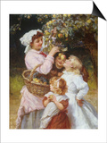 Picking Apples Prints by Frederick Morgan