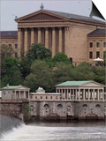 The Philadelphia Museum of Art Looms Above the Fairmount Water Works Prints