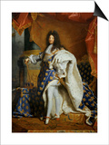 Louis XIV, King of France (1638-1715) in Royal Costume, 1701 Posters by Hyacinthe Rigaud