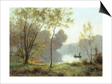 Late Summer Afternoon on the Lake Print by Albert Gabriel Rigolot