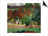 Apatarao (District of Papeete, Capital of Tahiti), 1893 Poster by Paul Gauguin