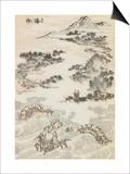 Manga, volume 3 : les lutteurs Posters by Katsushika Hokusai