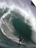 Big Wave Surfing, Waimea Bay, Hawaii Art by Ronen Zilberman