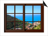 View from the Window at Cinque Terre Prints by Anna Siena