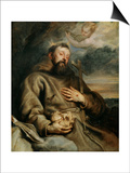 Saint Francis of Assisi, circa 1627-1632 Poster by Sir Anthony Van Dyck