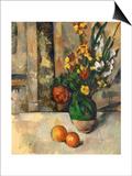 Vase and Apples Prints by Paul Cézanne