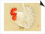 Bairei Gadan - Rooster Prints by Bairei Kono