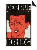 Envelope (Using a Self-Portrait by Egon Schiele of 1910) of the Magazine 'Der Ruf' Poster by Egon Schiele