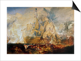 Battle of Trafalgar, 21 October 1805 Prints by J. M. W. Turner