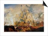 Battle of Trafalgar, 21 October 1805 Prints by William Turner