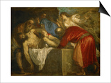 The Entombment of Christ, circa 1566 Prints by  Titian (Tiziano Vecelli)