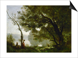Memory of Mortefontaine, France, 1864 Poster by Jean-Baptiste-Camille Corot