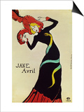Dancer Jane Avril, Poster Prints by Henri de Toulouse-Lautrec