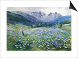 Alpin Meadow Prints by John MacWhirter