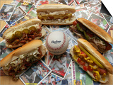 Baseball Hot Dogs Prints by Larry Crowe
