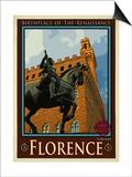 Piazza Della Signoria. Florence Italy 4 Art by Anna Siena
