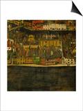 Die Kleine Stadt (II) or Kleine Stadt (III) Assembled from Separate Parts Prints by Egon Schiele