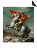 Napoleon (1769-1821) Crossing the Saint Bernhard Pass, 1801/2 Posters by Jacques-Louis David