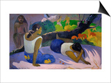 Pleasures of the Evil Spirit, (Arearea No Vareua Ino), 1894 Prints by Paul Gauguin