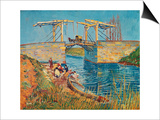 The Drawbridge at Arles with a Group of Washerwomen, c.1888 Prints by Vincent van Gogh