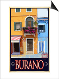 Burano Window, Italy 1 Posters by Anna Siena