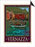 Vernazza Italian Riviera 4 Prints by Anna Siena