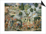 Procession of the Magi: Wall with Lorenzo Art by Benozzo Gozzoli
