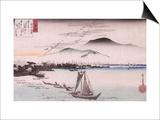 Le vol des oiseaux sauvages à Katad Prints by Ando Hiroshige