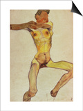 Male Nude, Yellow, 1910 Poster by Egon Schiele